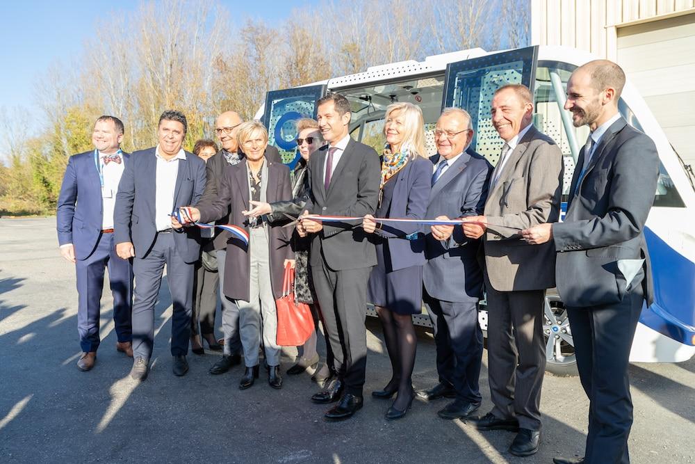 Inauguration du centre d'expérimentations de navettes autonomes en milieu rural